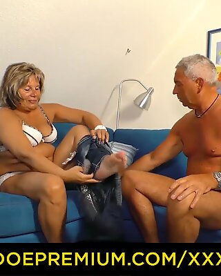 XXX OMAS - Chubby blonde granny fucked and creamed