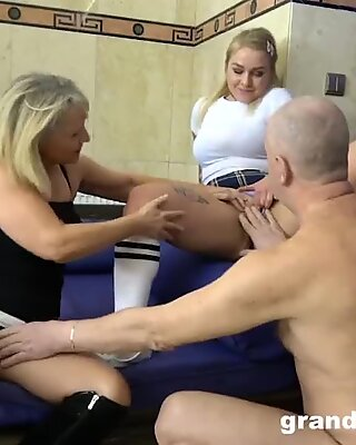 Senior Couple Showing Me Around a Cock