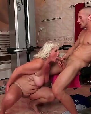 Grandmas and Youg Men Blowjob Kissing and Sex