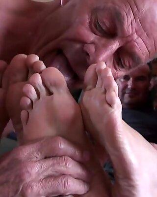 blow male feet