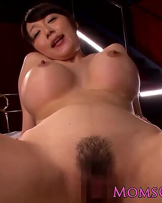 Busty Japanese Miho Ichiki pov cock ride