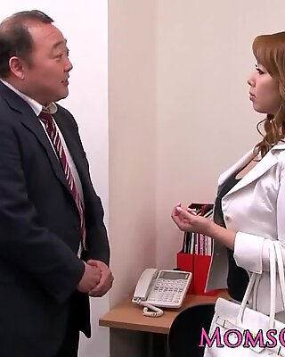 Mature lez Japanese business lady queens babe