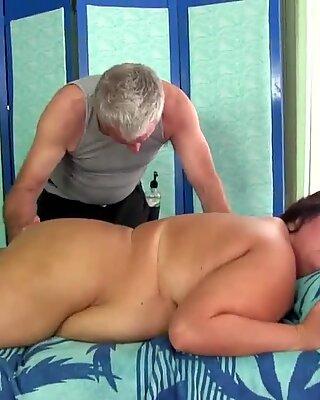 A Special Massage for Brunette Plumper Cougar Danni Dawson
