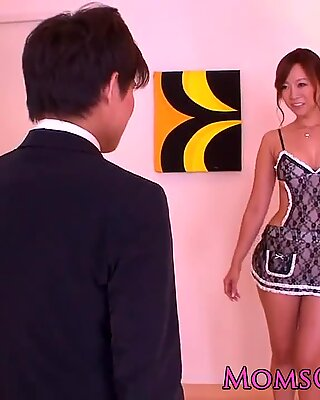 Busty japanese milf in uniform pussyfucked