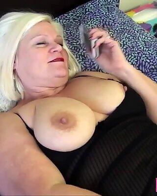 Granny bound by lesbian