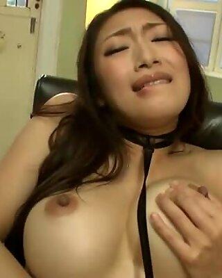 Reiko Kobayakwa on the chair getting toyed properly