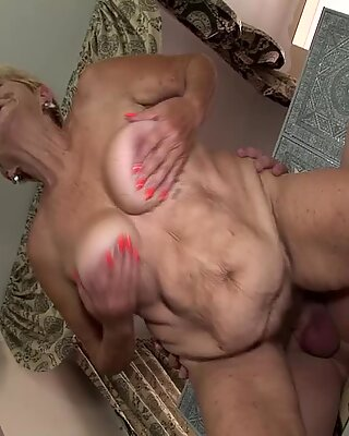 big boob hairy 89 years old granny gets rough fucked in all possible sex positions