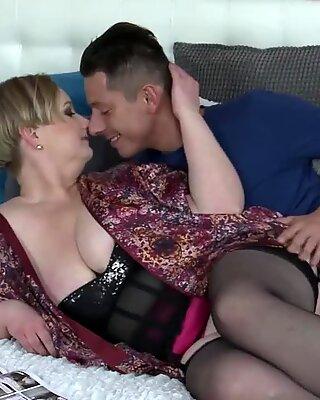 massive mom with huge tits fucks successful son-in-law