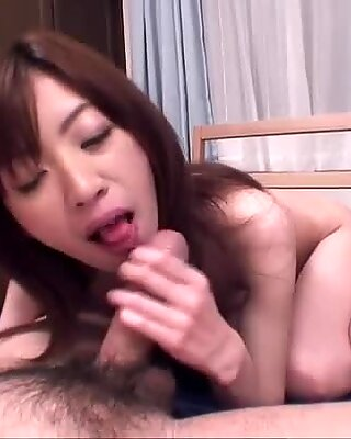 Hot Japanese Hanai Kanon gets analized by dildo