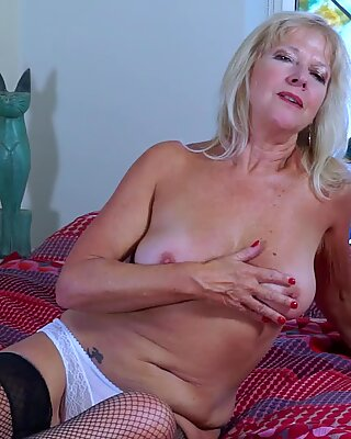 EuropeMaturE Milf Blonde Playing Alone with Dildo