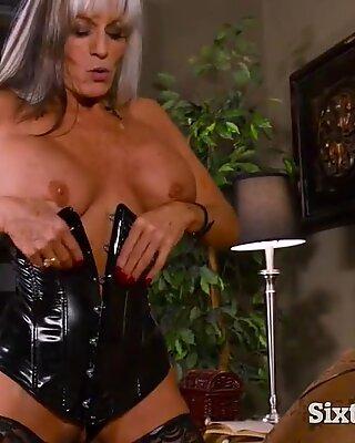 Big tits femdom granny is no old nanny