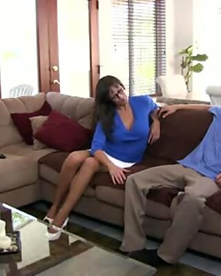 Hot mom shows daughters boyfriend how to fuck