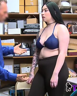 Tattooed REBEL forced to take GUARDs fat cock in her pussy
