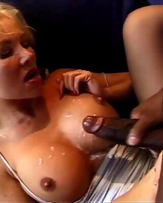 Hard DP for Helen Duval, Big Black Cock