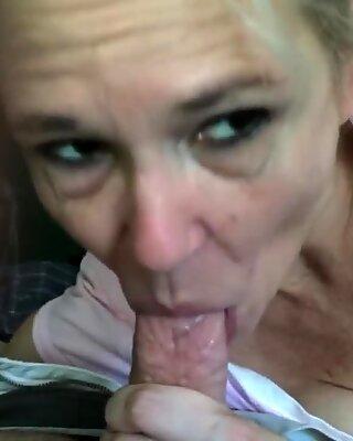 Beautiful Granny Sucks for Cum 1