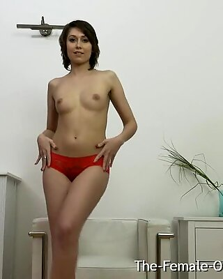 Hairy Femorg Lady Masturbates to Multiple Pulsing Orgasms