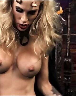 Devilish Blonde Babe
