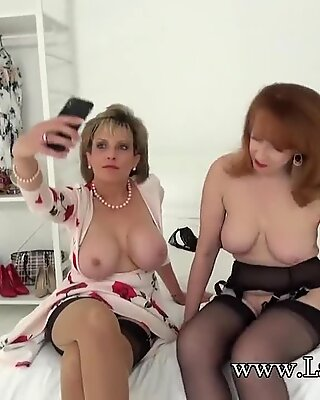 female Sonia And Her sandy-haired Friend In Lingerie have fun