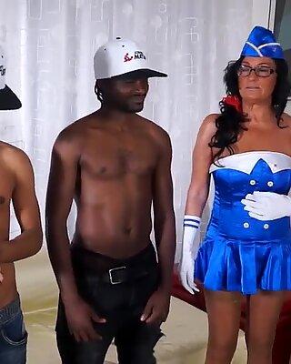 LETSDOEIT - Interracial GangBang with Mature Italian Amateur