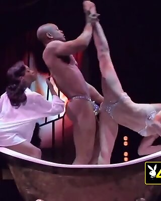 SWINGER hairy HUNKY stud takes curious LOVER to ORGY