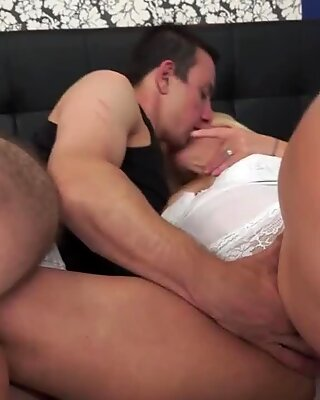 Hairy mom's pussy fucked by a younger stud