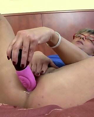 granny caught wanking anal fucked by big black pecker