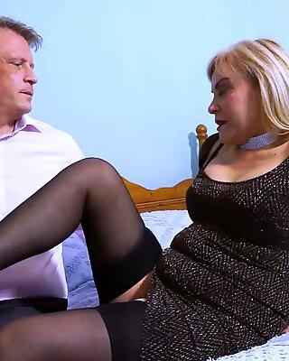 AgedLovE Busty Blonde Fucking Bussinesman Hard