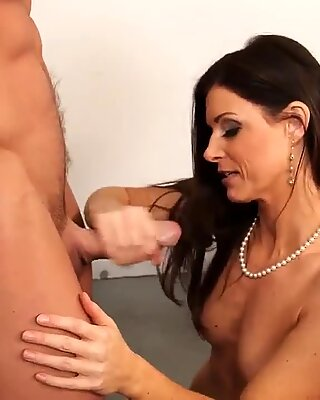Sexy teacher demonstrates her tits and perfect ass