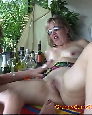 Three DRUNK Grannys at the BAR