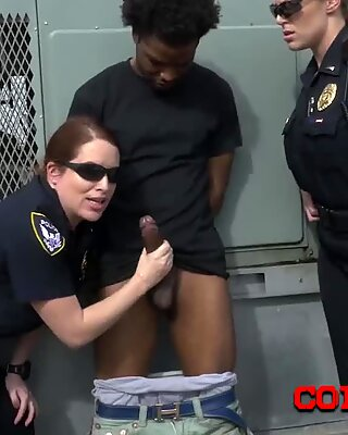 Peeping tom is coerced into stuffing milf cops coochies hard and deep