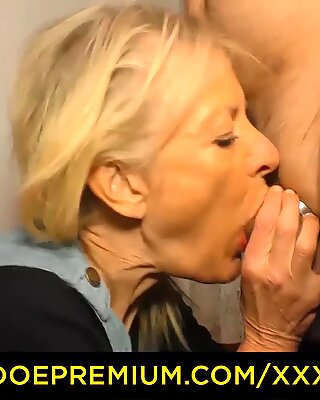 XXX OMAS - Blonde German granny gets fucked and sprayed with cum