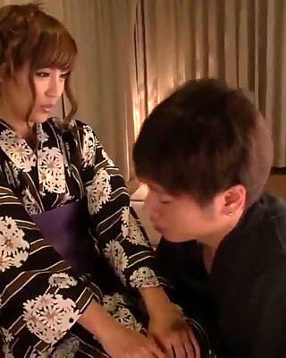Home pleasures for kimoni milf, Anna Anjo - More at Japanesemamas com