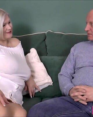 Shlong sucking British granny gets fucked doggystyle