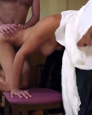 French amateur wife gangbang Hungry Woman Gets Food and Fuck