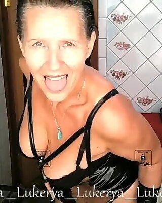 Mature cherry Lukerya with naked tits