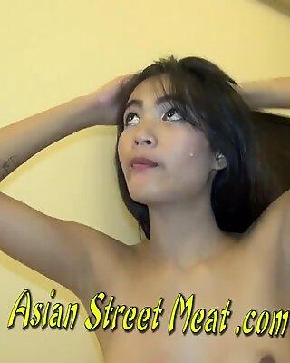 Quiet chinese cutie swallows Sperm